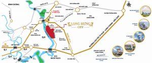 Vị trí đất nền Long Hưng city